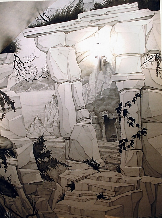 004 Руины. Роспись стен