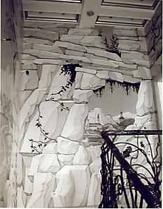 003 Руины. Роспись стен