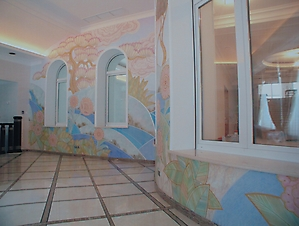 019 Роспись стен в стиле Ар-деко