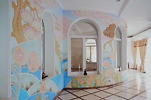 020 Роспись стен в стиле Ар-деко