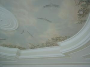 040 Роспись потолка. Фрагмент